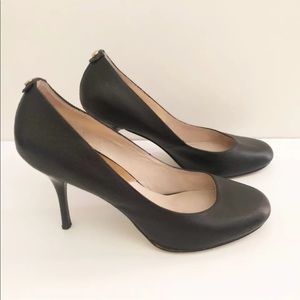 Michael Kors 10 Black Leather Pumps Heels